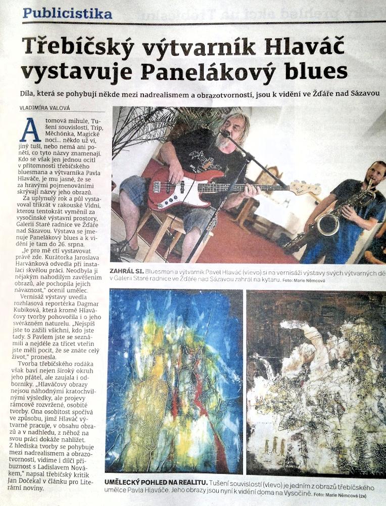 2da3d9c8dbc1 180816 HORÁCKÉ NOVINY Třebíčský výtvarník Hlaváč vystavuje Panelákový blues  ...